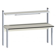 R0-5B ZSO Primus Basic ESD-safe electronics worktable with instrument shelf